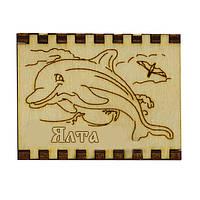 """Сувенирные спички на магните - дерево """"Дельфин"""" Ялта"""