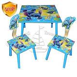 Детский Деревянный столик со стульчиками Лило и стич C 10011, фото 2