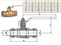 79660115W Bonomi кран для медной трубыцанговый15Missouri 15 мм