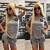 Костюм с нашивками Шанель шорты+футболка, фото 2