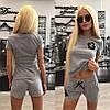 Костюм с нашивками Шанель шорты+футболка, фото 3