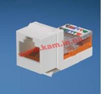 NK5E88MAWY Модуль Keystone RJ45, кат. 5e, UTP, белый (NK5E88MAWY)