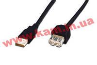 Кабель ASSMANN USB 2.0 (AM/ AF) 5.0m, Black (AK-300202-050-S)