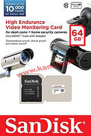Карта памяти SanDisk High Endurance Video Monitoring microSDXC 64GB Class 10 20MB (SDSDQQ-064G-G46A)