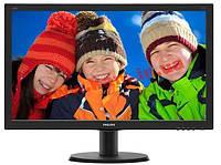 """Монитор TFT PHILIPS 23.8"""" 240V5QDAB/00 16:9 IPS DVI HDMI MM черный (240V5QDAB/00)"""