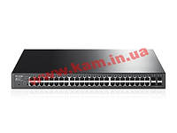 Коммутатор TP-Link 48 х RJ45 10/ 100/ 1000 Мбит/ с Smart, PoE+ с 4 SFP-слотами (T1600G-52PS)