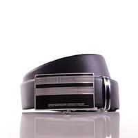 Ремень Л35В1Т4 черный. Телячья кожа гладкая. Пряжка зажим.