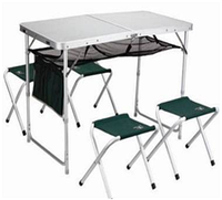 Складной стол со стульями