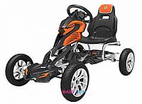Карт железный веломобиль для детей GM504+ ЕВА колеса(задний привод) оранжевый
