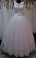 """Свадебное платье """"16-12"""" (юбка - высокая вышивка)"""
