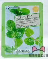 Тканевая маска (зеленый чай) Food A Holic 3D