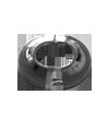 501 Розетка разборная металлическая хром ALBERTONI 16 мм