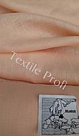 Ткань сорочечная чистольняная (нежный персик)