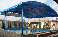 Тентовое накрытие на бассейн опорно-навесное