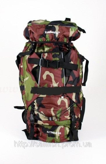 Походной рюкзак с жесткой спинкой на 80л