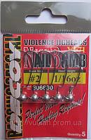 Набор джиг-головок Decoy Nail Bomb VJ-71 5шт