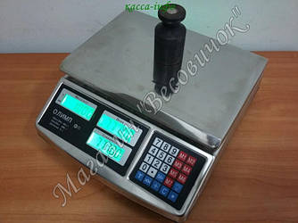 Электронные торговые весы Олимп А-701 40кг (в металле)