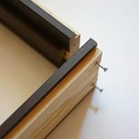 Коробка ПВХ De Luxe деревянная универсальная (комплект) 80*32 - grey, венге new, золотая ольха, каштан, ясень, орех-premium
