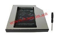 "Карман-адаптер Maiwo для подключ. 2,5"" HDD/ SSD SATA в отсек привода ноутбука IDE тол (NSTOR-12-IDE)"