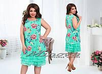 Женское шифоновое платье, размеры 48,50,52,54 . Цвета в ассортименте