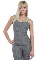 Женская майка для занятий спортом ATHLETIC GREY MELANGE Berserk Sport серый