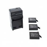 Комплект 3 батареи + зарядное устройство для GOPRO HERO 4