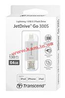 USB накопитель TS64GJDG300S 64Gb JetDrive Go 300, Lightning + USB3.1, Silver (TS64GJDG300S)