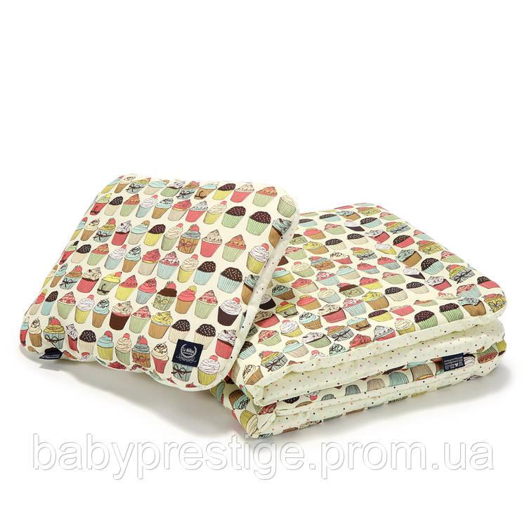 Набор La Millou - плед и подушка KID KIT - CUPCAKES ECRU, фото 1