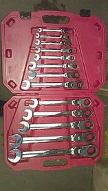 Набор ключей комбинированных шарнирных с трещоткой ALLOID 13st  8-32мм нк-8701-13