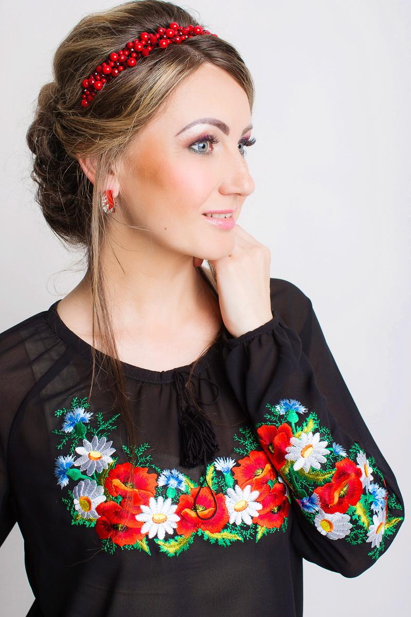 e9fcd7c05b75 Прозрачная женская рубашка с вышивкой