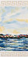 11246 | Landscape Waterfront - Вставка для панно 295x595