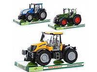 Детский игрушечный Трактор инерционный: двери и капот открываются, 3 вида