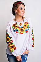 Стильная женская вышитая блуза с полевыми цветами