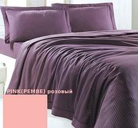 Issimo Home Пике PLUME PINKPEMBE розовый +наволочка и Простынь 180x250