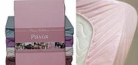 Pavia Простынь трикотажная на резинке (90-100x200) PAVIA BIEGE(BEJ) тёмно-бежевый