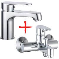 Набор смеситель для умывальника + смеситель для ванны Imprese Lesna