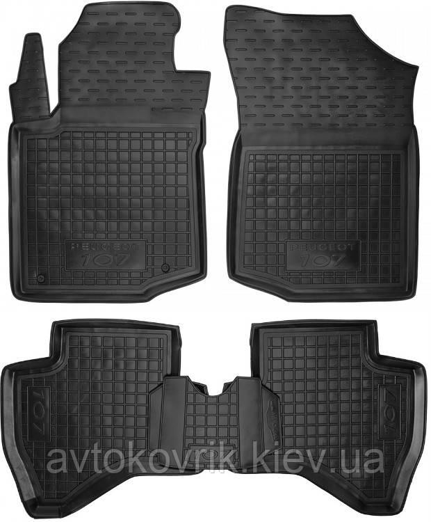 Полиуретановые коврики в салон Peugeot 107 2005-2014 (AVTO-GUMM)