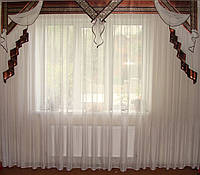 Жесткий ламбрекен Хай-тек коричневый 3м