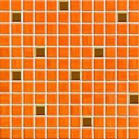 GDM02065 | Мозаика INDIA для ванной 2,5x2,5 светло-оранжевая - золотая Rako
