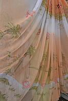 Тюль детская Пальмы персиковые