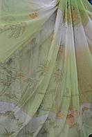 Тюль детская Пальмы салатовые