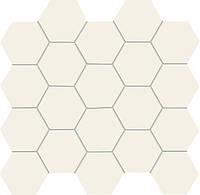 Мозаика All in white белая 24,8x30,6 TUBADZIN