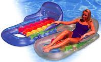 Пляжный надувной матрас-кресло Intex 58802 160-85 см, 2 цвета