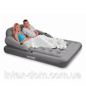 Надувная диван-кровать INTEX 68916 интекс(203 х 152 х 25 см)киев