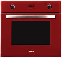 Pyramida F 84 EIX-P red (600 мм. 8 программ) электрический, встраиваемый духовой шкаф, красное стекло, фото 1