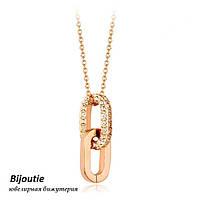 Кулон ЛАНЦЮГ SHINE ювелірна біжутерія золото 18К декор кристали Swarovski