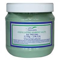 Thalaspa Отшелушивающая морская соль Микрокеан EXFOLIATING MARINE SALTS содержит измельченную морскую соль, микронизированные водоросли, масло