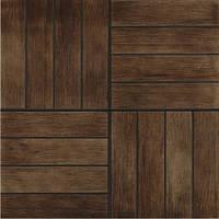 Плитка для пола Грес рустик Кастелло 3 коричневый 400x400 мм