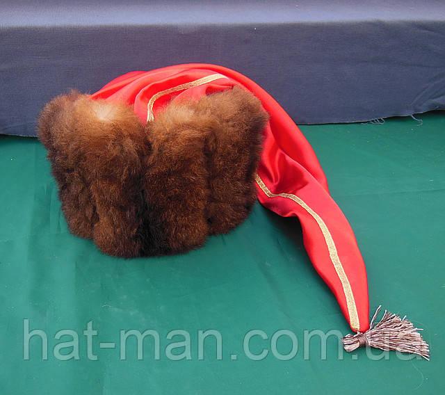 Гетманская шапка с коричневого меха