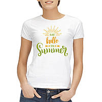 "Женская футболка ""Say hello to summer"""